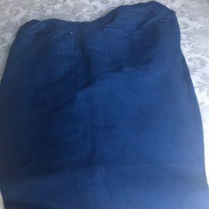 Other - Blue linen blend pants